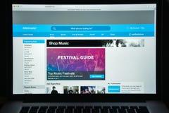 Milano, Italia - 10 agosto 2017: Homepage del sito Web di Ticketmaster I Fotografia Stock
