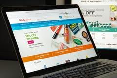 Milano, Italia - 10 agosto 2017: Homepage del sito Web di Walgreens i Immagini Stock