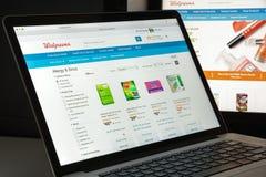Milano, Italia - 10 agosto 2017: Homepage del sito Web di Walgreens i Immagini Stock Libere da Diritti
