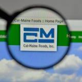 Milano, Italia - 10 agosto 2017: Logo di Cal Maine Foods sui web Fotografia Stock