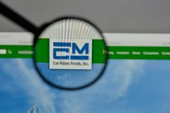Milano, Italia - 10 agosto 2017: Logo di Cal Maine Foods sui web Immagini Stock