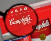 Milano, Italia - 10 agosto 2017: Logo di Campbell Soup sul websit immagine stock