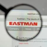Milano, Italia - 10 agosto 2017: Logo di Eastman Chemical sul web immagini stock libere da diritti