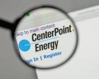Milano, Italia - 10 agosto 2017: Logo di energia del punto centrale sul Immagine Stock