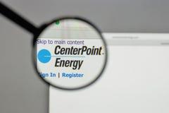 Milano, Italia - 10 agosto 2017: Logo di energia del punto centrale sul Fotografie Stock Libere da Diritti
