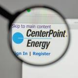 Milano, Italia - 10 agosto 2017: Logo di energia del punto centrale sul Fotografia Stock