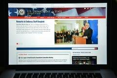 Milano, Italia - 10 agosto 2017: Stato homepage del sito Web del governo condizione Fotografie Stock