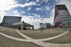 Milano Italia costruzioni moderne a Portello Fotografie Stock Libere da Diritti