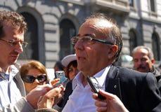 MILANO, ITALIA, della Scala della piazza, il 21 aprile 2012 Immagine Stock