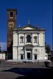 Milano Italia e quadrato Fotografie Stock Libere da Diritti
