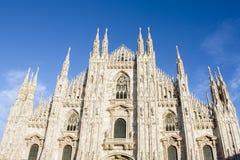 MILANO, ITALIA - 11 FEBBRAIO 2016 Di Milano, punto di riferimento italiano famoso di Milan Cathedral, chiesa principale del duomo Fotografia Stock