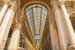 MILANO, ITALIA - 13-05-2017: Galleria Vittorio Emanuele II in Mila fotografie stock