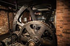 MILANO, ITALIA - 9 GIUGNO 2016: vecchia mostra della fabbrica allo Scien Fotografia Stock