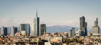 Milano (Italia), orizzonte immagini stock