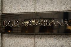 Milano, Italia - 9 ottobre 2016: Logo di un negozio i di Dolce e Gabbana Fotografie Stock