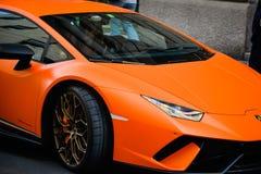 Milano, Italia - 24 settembre 2017: Automobile di Lamborghini in Montenapo immagine stock