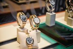 Milano, Italia - 24 settembre 2017: Orologi di Rolex in un deposito dentro Fotografia Stock