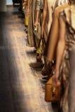 MILANO, ITALIA - 21 SETTEMBRE: Passeggiata dei modelli il finale della pista durante la manifestazione di Salvatore Ferragamo Immagine Stock