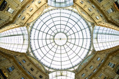 Milano, Italy. The central dome of the Vittorio Emanuele II gallery Stock Photography