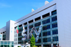 Milano,Italy, april 29 2014: SKY pay tv corporate headquarters M Royalty Free Stock Image