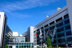 Milano,Italy, april 29 2014: SKY pay tv corporate headquarters M Royalty Free Stock Photos