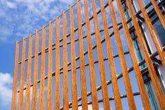 Milano, Italy 22 2017 Czerwiec: kopuła sufit wierza Drewniany kopuła szczegół Naturalni materiały tak jak drewno używają Zdjęcie Stock
