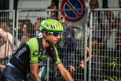 Milano, Italy 31 May  2015; Davide Formolo after finishing his first Giro D'Italia Royalty Free Stock Images