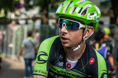 Milano, Italy 31 May  2015; Davide Formolo after finishing his first Giro D'Italia Royalty Free Stock Photos