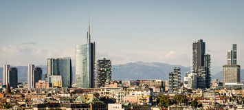 Milano (Italy), skyline Stock Images