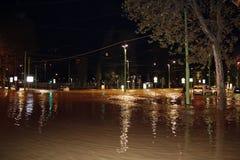 Milano l'inondazione di Seveso del fiume Immagini Stock Libere da Diritti