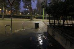Milano l'inondazione di Seveso del fiume Immagine Stock