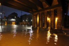 Milano l'inondazione di Seveso del fiume Fotografia Stock Libera da Diritti