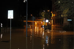 Milano l'inondazione di Seveso del fiume Fotografie Stock