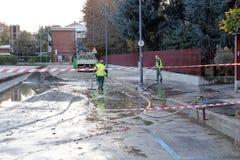 Milano l'inondazione di Seveso del fiume Immagini Stock