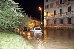Milano l'inondazione di Seveso del fiume Immagine Stock Libera da Diritti