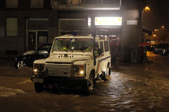 Milano lo straripamento di Seveso del fiume Fotografia Stock Libera da Diritti