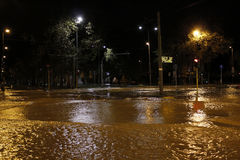 Milano lo straripamento di Seveso del fiume Immagine Stock