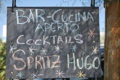 Bar sign chalkboard royalty free stock image