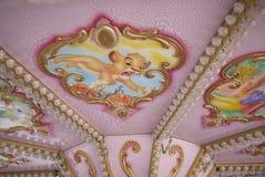 View of a carousel. Milano Marittima, Italy - July 30, 2017: Carousel in Milano Marittima during summertime Royalty Free Stock Photos