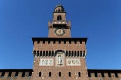 Milano milan castello sforzesco torre del filarete Royaltyfri Bild