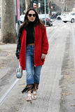 Lavinia biancalani Milano,milan fashion week streetstyle autumn winter 2015 2016 Stock Image