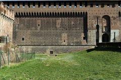 Milano, Milan na zewnątrz castello sforzesco Fotografia Royalty Free