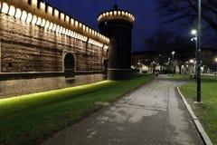 Milano, Milano, vista quadrata del castello Immagini Stock Libere da Diritti