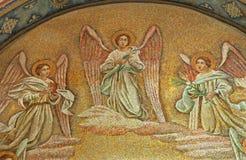 Milano - mosaico dell'angelo - chiesa del San Agostino fotografie stock libere da diritti