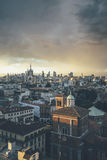 Milano, 2016 panoramic skyline with Italian Alps on Background - Royalty Free Stock Photography