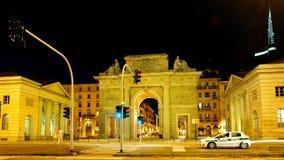 Milano, Porta Garibaldi nel distretto di Corso Como Fotografia Stock Libera da Diritti