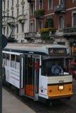 Milano`s tram stock photos