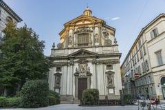 Milano, San Giuseppe kościół Obrazy Stock