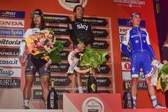 Milano-Sanremo 2017. Poland`s Michal Kwiatkowski Team Sky won the Milan-San Remo NamedSport before Classical Monument of the season, ahead of Peter Sagan Bora Stock Images