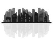Milano skyline illustrated Stock Photography